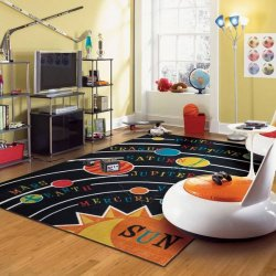 <img class='new_mark_img1' src='//img.shop-pro.jp/img/new/icons12.gif' style='border:none;display:inline;margin:0px;padding:0px;width:auto;' />【Mohawk Home Aurora Solar System Rug】 子供用ラグ キッズラグ 宇宙惑星ラグ マット カーペット 絨毯
