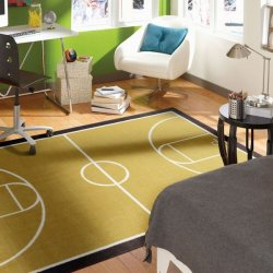 <img class='new_mark_img1' src='//img.shop-pro.jp/img/new/icons12.gif' style='border:none;display:inline;margin:0px;padding:0px;width:auto;' />【Mohawk Home Aurora Court Rug】 子供用ラグ キッズラグ バスケットボールコート柄ラグ マット カーペット 絨毯