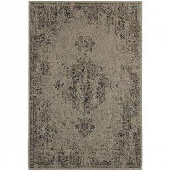 メダリオン柄 男前 ヴィンテージ風ラグ スモーキーグレー【Oriental Weavers Revival 6330A Rug】