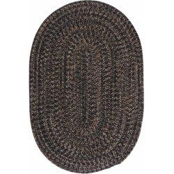 円形・楕円形 ヘイワード 編みこみ ブレイドラグ ブラック【Colonial Mills HY Hayward Braided Rug Black】