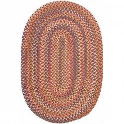 円形・楕円形 シーダーコーブ 編みこみ ブレイドラグ レッド系マルチ 【Colonial Mills CA Cedar Cove Braided Rug Rust】