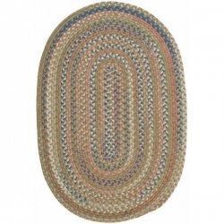 円形・楕円形 シーダーコーブ 編みこみ ブレイドラグ グリーン系マルチ 【Colonial Mills CA Cedar Cove Braided Rug Olive】