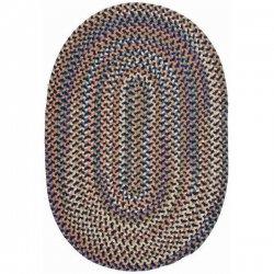 円形・楕円形 シーダーコーブ 編みこみ ブレイドラグ ネイビー系マルチ 【Colonial Mills CA Cedar Cove Braided Rug Navy】