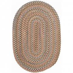 円形・楕円形 シーダーコーブ 編みこみ ブレイドラグ ベージュ系マルチ 【Colonial Mills CA Cedar Cove Braided Rug Natural】
