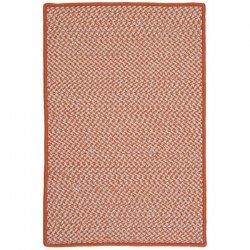 編み込み ブレイド 千鳥格子 ハウンドトゥース ツイードラグ オレンジ 【Colonial Mills OT Houndstooth Tweed Braided Rug Orange】