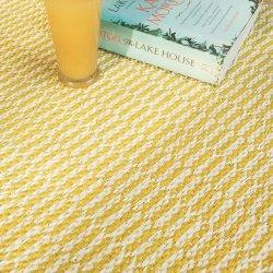ブリタスウェーデン 北欧 プラスチック製 デザインラグ ペンバ イエロー【Brita Sweden Pemba rug Sun】
