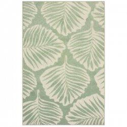 ナチュラル ボタニカル柄 葉柄 デザインラグ グリーン【Oriental Weavers Barbados 8027 Rug】