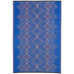 ファブハビタット ジョードプル アウトドア ダイニング プラスチックラグ マルチブルー 【FabHabitat Earth Jodhpur - Multi Blue】
