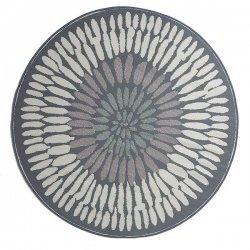ファブハビタット アゾレス アウトドア ダイニング プラスチックラグ 円形 グレー 【Fab Habitat Earth Azores - Gray】