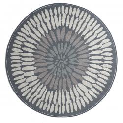 ファブハビタット アゾレス アウトドア ダイニング プラスチックラグ 円形 グレー 【FabHabitat Earth Azores - Gray】