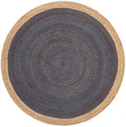 <img class='new_mark_img1' src='https://img.shop-pro.jp/img/new/icons7.gif' style='border:none;display:inline;margin:0px;padding:0px;width:auto;' />天然素材 ジュート100% 150cm円形 編み込みラグ ダークブルー 【FabHabitat Yellowstone Braided Jute Rug Dark Blue】