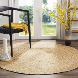 天然素材 ナチュラル ジュート100% 円形ラグ【Safavieh Natural Fiber Collection NF801N Natural Jute Round Rug】