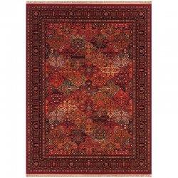ペルシャ絨毯柄 帝国 オリエンタルフリンジラグ アンティークレッド【Couristan Kashimar Imperial Baktiari Rug】