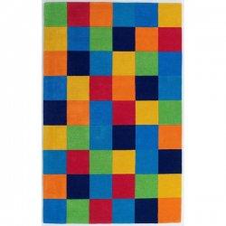 ウール100% カラフル ブロック ボーイズ キッズラグ【Kas Oriental Kidding Around Boy's Color Blocks Rug】