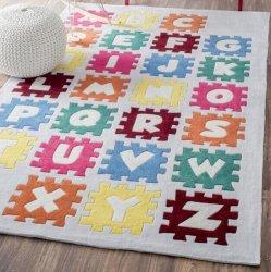 パズル アルファベット キッズラグ【Keno Puzzle Alphabet Rug】