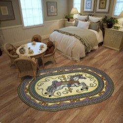 メリーゴーランド馬デザイン オーバル 楕円形 キッズラグ【Joy Carpets Family Legacies Carousel Horse Rug】