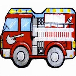 消防車柄 ファイヤートラック キッズラグ【Fun Shape High Pile Fire Truck Area Rug】