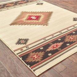 オルテガ柄 ネイティブ オリエンタルラグ ベージュ【Oriental Weavers Hudson 087 Rug Beige】