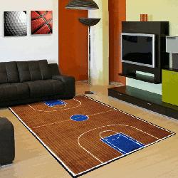バスケットボール コート柄 デザインラグ【Fun Area Rugs Supreme TSC-152 Basketball Court Rug】
