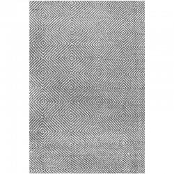 ダイヤのジオメトリック柄 手織り デザインラグ グレー【Sierra Paddle Rug Grey】