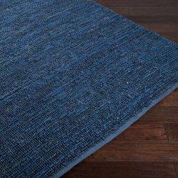 天然素材 ポコポコ ナチュラル ジュートラグ ネイビーブルー【Surya Continental Continental Rug Blue】