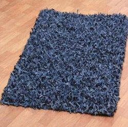 レザーシャギーラグ ブルー【Pelle Leather Shag Blue】
