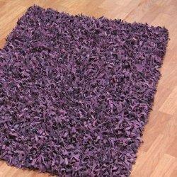 レザーシャギーラグ パープル【Pelle Leather Shag Purple】