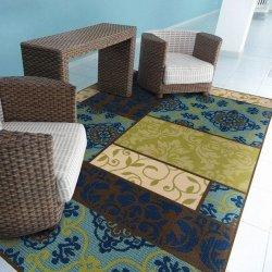 オリエンタル パッチワーク柄 アウトドア ダイニングラグ【Oriental Weavers Caspian Outdoor 3066V Rug】