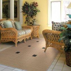 シンプル スタイリッシュ アウトドア ダイニングラグ ベージュ【Oriental Weavers Terrace Outdoor Lanai 188X5 Rug】