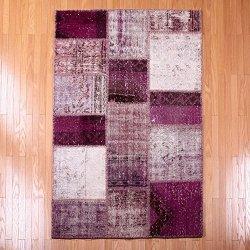 【即納商品】 トルコ絨毯 パッチワークラグ アナトリア オールドカーペット マット 166cm×113cm
