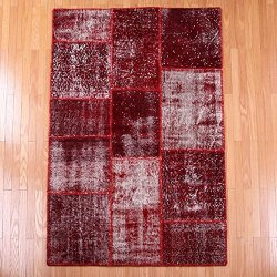 【即納商品】 トルコ絨毯 パッチワークラグ アナトリア オールドカーペット マット 163cm×111cm