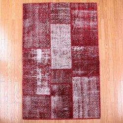 【即納商品】 トルコ絨毯 パッチワークラグ アナトリア オールドカーペット マット 167cm×110cm