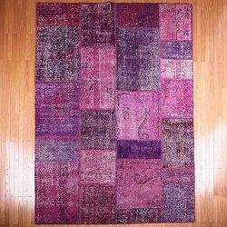【即納商品】 トルコ絨毯 パッチワークラグ アナトリア オールドカーペット 245cm×179cm