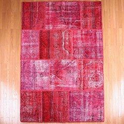 【即納商品】 トルコ絨毯 パッチワークラグ アナトリア オールドカーペット 203cm×141cm