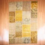 【即納商品】 トルコ絨毯 パッチワークラグ アナトリア オールドカーペット 231cm×171cm