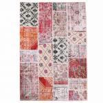 【即納商品】トルコ絨毯 パッチワークラグ アナトリア オールドカーペット 101cm×144cm