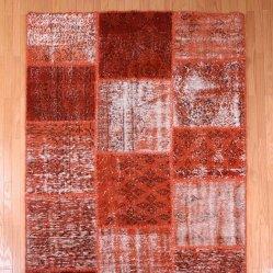 【即納商品】 トルコ絨毯 パッチワークラグ アナトリア オールドカーペット 220cm×135cm