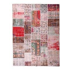 【即納商品】 トルコ絨毯 パッチワークラグ アナトリア オールドカーペット 302cm×201cm