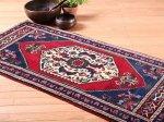 【即納商品】 トルコ絨毯 カーペット 114cm×57cm トルコ タスピナール ラグ マット