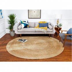 ジュート 麻100% 天然素材 ナチュラルラグ 円形 楕円形【Anji Mountain Jute Kerala Rug】