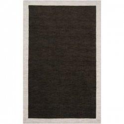 シンプル スタイリッシュ ウール100% デザインラグ 炭黒【Madison Square MDS-1 Coal Black】