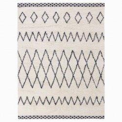 モロッカン ベニワレン風 ウール100% シャギーラグ アイボリー【Moroccan Kasbah Wool Rug】