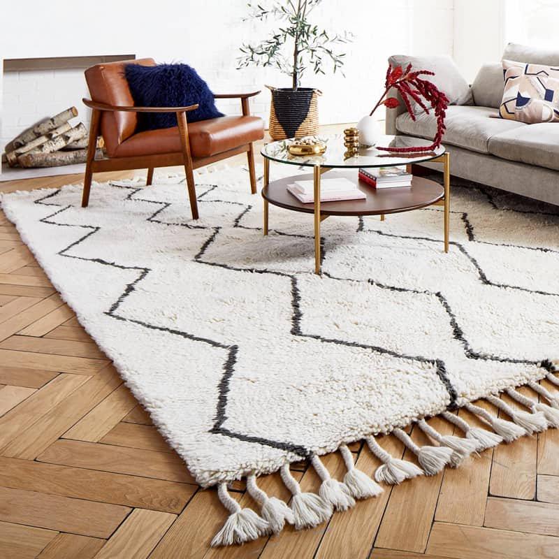 【Moroccan Souk Wool Rug】 輸入デザインラグ モロッカンシャギーラグ ベニワレン風ラグ