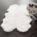 【Prairie Sheepskin Wool White Shag Four Pelt 4】 シープスキン・ムートンラグ ニュージーランドウール100%