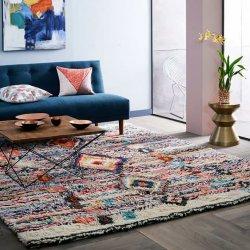カラフル アート ニュージーランド産ウール100% モロッカン シャギーラグ 【Charm Wool Rug】