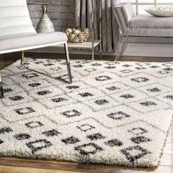 モノトーン 可愛い モロッカン シャギーラグ【Moroccan Plus Expo Shag XS02 GREY Rug】
