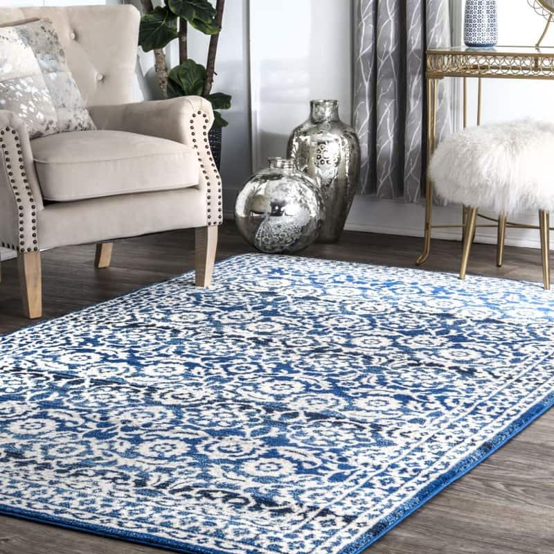 【Bosphorus BD05 Floral Symphony Rug】輸入デザインラグ マット カーペット 絨毯