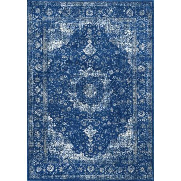 【Bosphorus BD07 Distressed Persian DARK BLUE Rug】 輸入デザインラグ/ヴィンテージ加工ラグ マット カーペット …