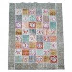 トルコ絨毯 パッチワークラグオールドカーペット236cm×187cm【即納商品】