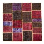 トルコ絨毯 パッチワークラグ アナトリア オールドカーペット 200cm×200cm【即納商品】